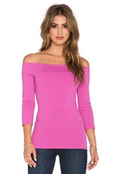 Susana Monaco Banded Off The Shoulder Top Pink