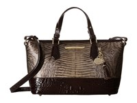 Brahmin Mini Asher Armor Handbags Gray