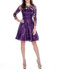 Decode 1.8 Floral Fit And Flare Dress Purple