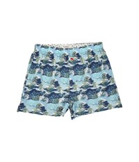 Tommy Bahama Island Washed Cotton Woven Boxer Palm Island Blue Print Men's Underwear