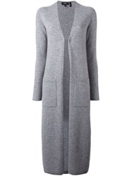 Theory Long Cardigan Grey