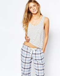 Jack Wills Dot Spot Vest White