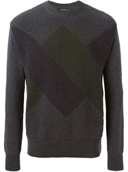 Viktor And Rolf Textured Print Sweater Grey