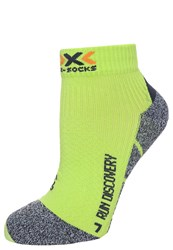 X Socks Run Discovery Sports Socks Green Lime Gey Mouline Neon Green