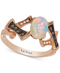 Le Vian Chocolatier Opal 2 3 Ct. T.W. And Diamond Accent Ring In 14K Rose Gold