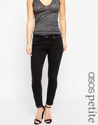 Asos Petite Whitby Low Rise Skinny Jeans In Washed Black Washed Black