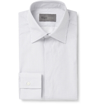 Kilgour White Spot Print Cotton Shirt