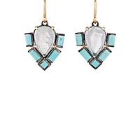 Nak Armstrong Women's Aquamarine And Turquoise Geometric Drop Earrings No Color