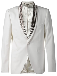John Richmond Beaded Lapel Blazer