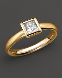 Bloomingdale's Bezel Set Princess Cut Diamond Ring In 18K Yellow Gold 0.50 Ct. T.W. No Color