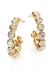 Temple St. Clair Classic Eternity Diamond And 18K Yellow Gold Hoop Earrings 0.4