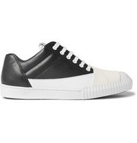 Marni Rubber Panelled Leather Sneakers Black