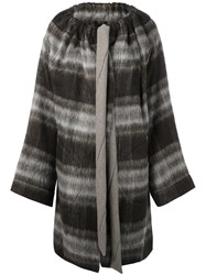 Vivienne Westwood Anglomania Checked Single Breasted Coat Brown