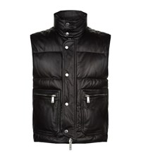 Dsquared2 Leather Gilet Male Black