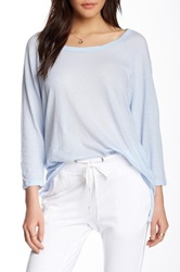 James Perse Crepe Jersey Tunic Blue