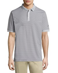 Callaway Short Sleeve Thin Stripe Polo Shirt High Rise