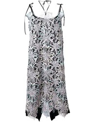 Antonio Marras Embellished Lace Overlay Dress Black