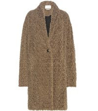 Etoile Isabel Marant Adams Faux Fur Coat Brown