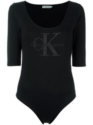 Calvin Klein Jeans Scoop Neck Body Blue