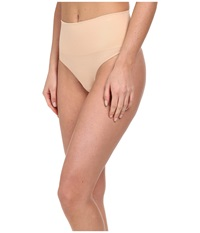 Spanx Everyday Shaping Panties Seamless Thong Soft Nude Women's Underwear Beige
