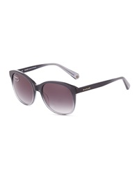 Balmain Gradient Rounded Sunglasses Gray