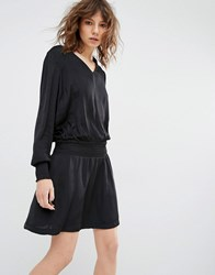 Gestuz Bree Elasticated Waist And Wrist Dress Black
