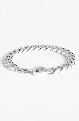 Gucci Interlocking Logo Bracelet Silver