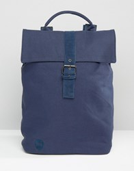 Mi Pac Canvas Backpack In Navy Navy