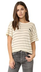 Wildfox Couture Tacos Stripe Tee Vanilla Latte