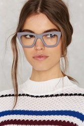 Nasty Gal Matte 'N' Flat Cat Eye Glasses