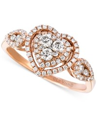 Le Vian Vanilla Diamond Heart Ring 5 8 Ct. T.W. In 14K Rose Gold