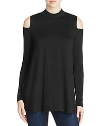 Three Dots Cold Shoulder Tunic 100 Bloomingdale's Exclusive Black