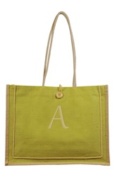 Cathys Concepts 'Newport' Personalized Jute Tote Green A