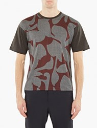 Wooyoungmi Charcoal Printed T Shirt
