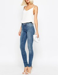 Selected Gaia Midrise Jegging Mediumblue