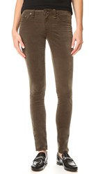 Rag And Bone Skinny Velvet Jeans Loden