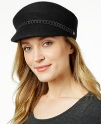 Nine West Felt Newsboy Hat Black
