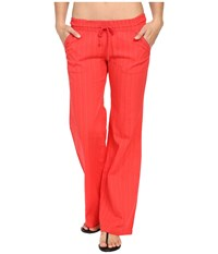 Billabong Waves For Us Beach Pant Hibiscus Women's Casual Pants Pink