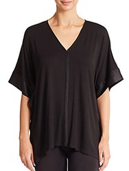 Josie Natori Fuji Top Black