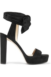 Jimmy Choo Kaytrin Suede Platform Sandals Black