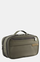 Men's Briggs And Riley 'Baseline' Expandable Toiletry Kit Olive