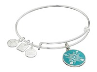Alex And Ani Charity By Design Arrows Of Friendship Charm Bangle Shiny Silver Finish Bracelet