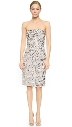 J. Mendel Strapless Dress Steel