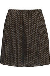 Michael Michael Kors Perrin Polka Dot Crepe Mini Skirt Black