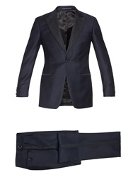 Gieves And Hawkes Peak Lapel Single Breasted Wool Tuxedo