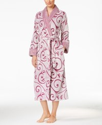 Charter Club Embossed Scroll Long Robe Only At Macy's Winter Ruby Scroll