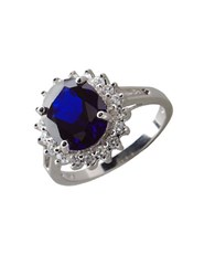 Lord And Taylor Oval Cubic Zirconia Ring Sapphire