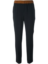 Incotex Tailored Skinny Trousers Black