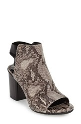 Kenneth Cole Reaction Women's Reaction Kenneth Cole 'Fridah Fly' Open Toe Bootie Taupe Black Leather