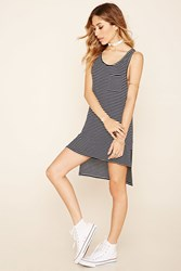 Forever 21 Stripe High Low Tunic